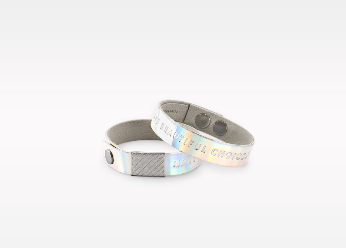 Wristbanditz silver wristbands with a message