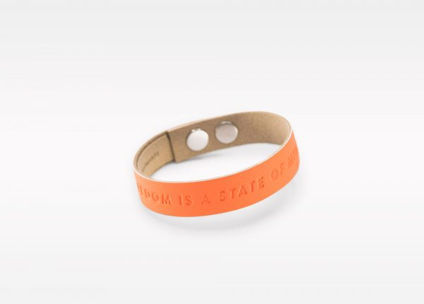 Wristbanditz orange freedom is a state of mind