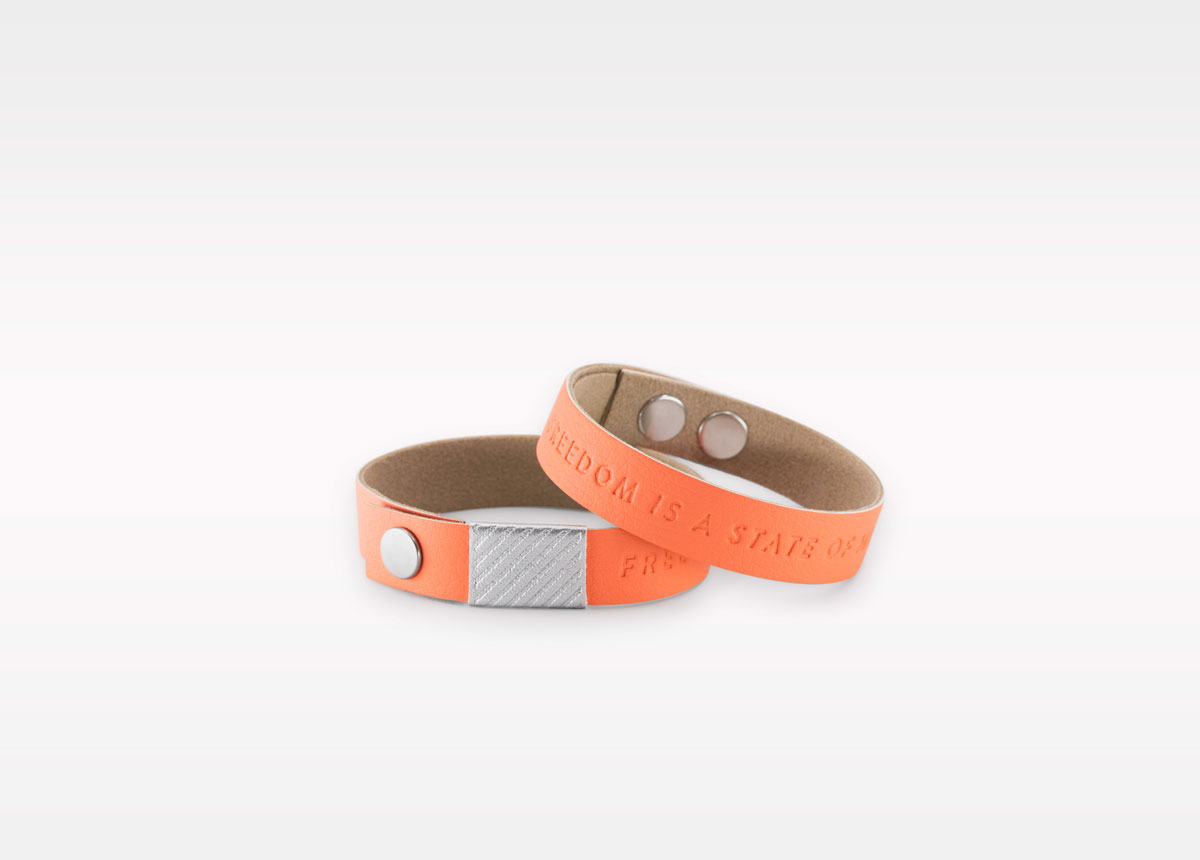 Wristbanditz salmon wristbands with a message
