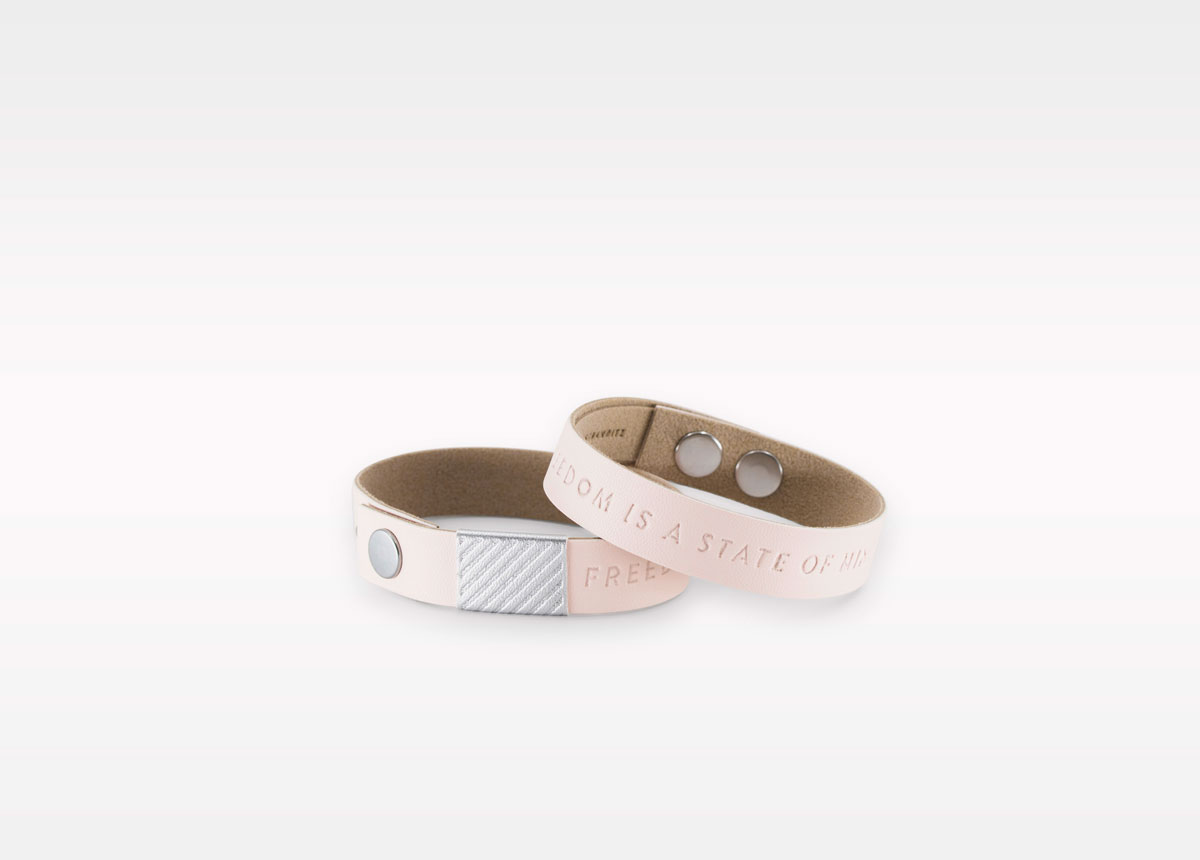 Wristbanditz nude wristbands with a message