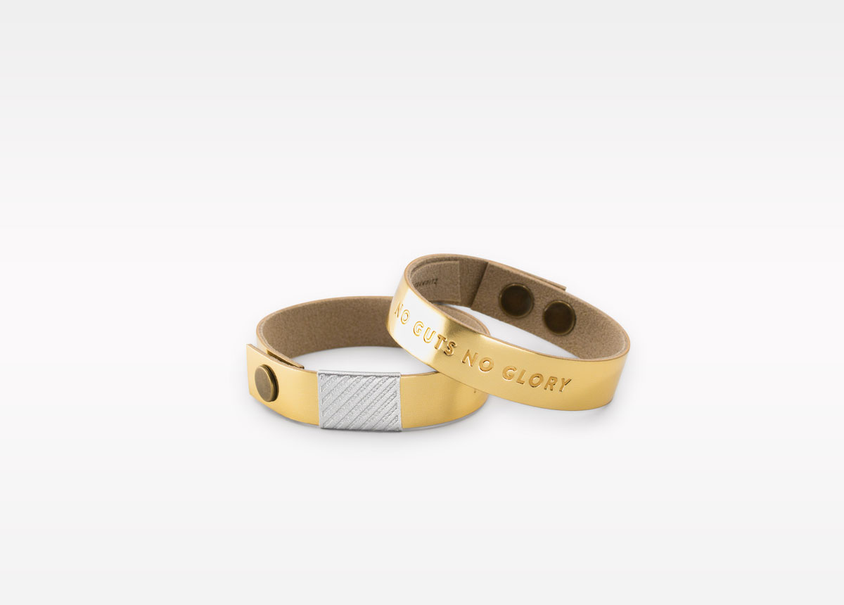 Wristbanditz gold wristbands with a message