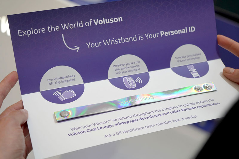 Exhibition VIP invitation card with silver NFC wristband